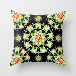 Firework Mandala Throw Pillow