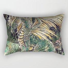 Dragon of the swamp Rectangular Pillow