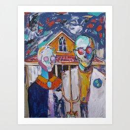 American Gothic's Nightmare  Art Print