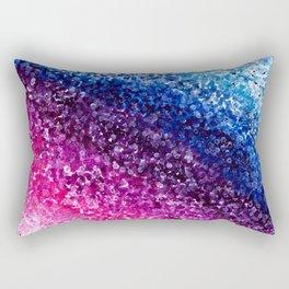Purple Abstract Painting Rectangular Pillow