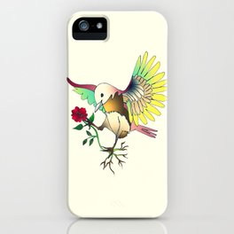 Flying with roses iPhone Case