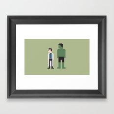 The Incredible Hulk 8-Bit Framed Art Print