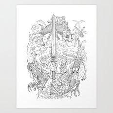 The Eye of the Storm Art Print