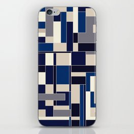 Blue abstract city iPhone Skin