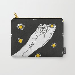 Miss Daisies in black Carry-All Pouch