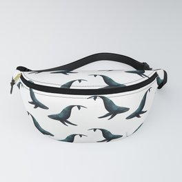 Watercolour Humpback Whale Fanny Pack
