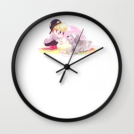 Hello Puppy Wall Clock