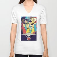 star V-neck T-shirts featuring Star Trek by Ale Giorgini