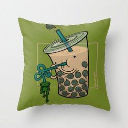 Food Series - Bubble Milk Tea Throw Pillow