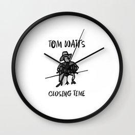 Closing Time - BW 1 Wall Clock
