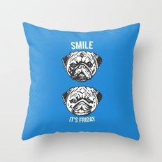 Smile It's Friday! Throw Pillow