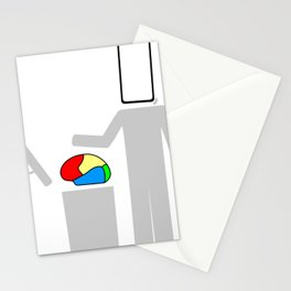 Brain in the trash Stationery Cards
