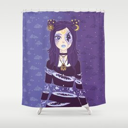 Celestial Witch Shower Curtain
