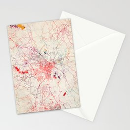 Macon map Georgia painting Stationery Cards