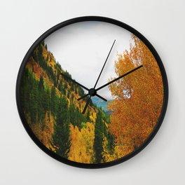 Firey Fall Wall Clock