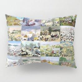 Grandma Moses Montage Pillow Sham