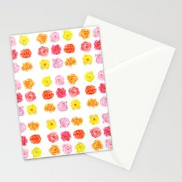 9 watercolor roses Stationery Cards