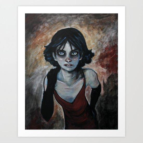 "Character study - ""The Girl"" Art Print"