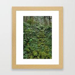 Forest Bed Framed Art Print