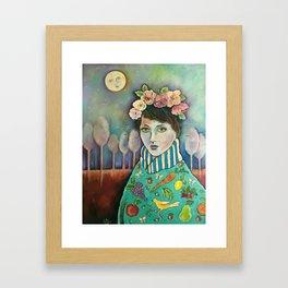 Organic Girl Framed Art Print