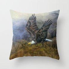 Bald Eagle Country Throw Pillow