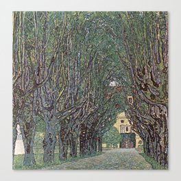Gustav Klimt - Avenue Of Schloss Kammer Park Canvas Print