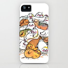 Seal family iPhone Case