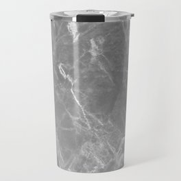 Black Granite Charcoal Gray Marble Design Travel Mug