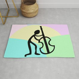 Guitar Figure Colorful Rug