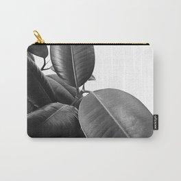 Ficus Elastica #21 #BlackAndWhite #foliage #decor #art #society6 Carry-All Pouch