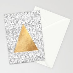 Gold Triangle Print Stationery Cards
