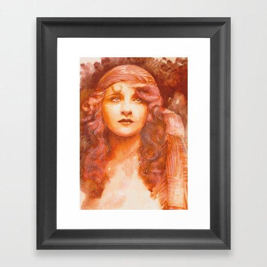 I wish you were here Framed Art Print