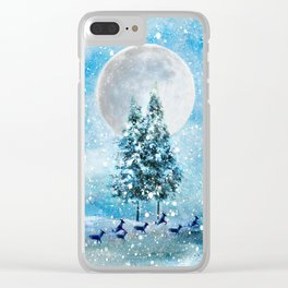Winter Night 4 Clear iPhone Case