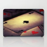 poker iPad Cases featuring Poker  by    Amy Anderson
