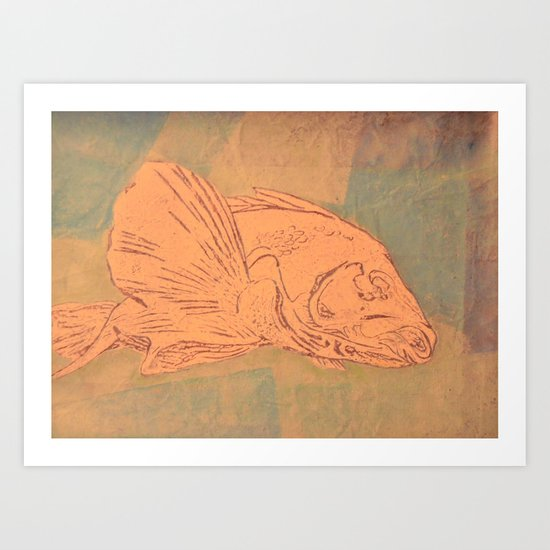 Pale Fish Art Print