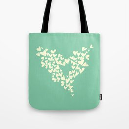 Heart In Hearts. Clouds in the hearts Tote Bag