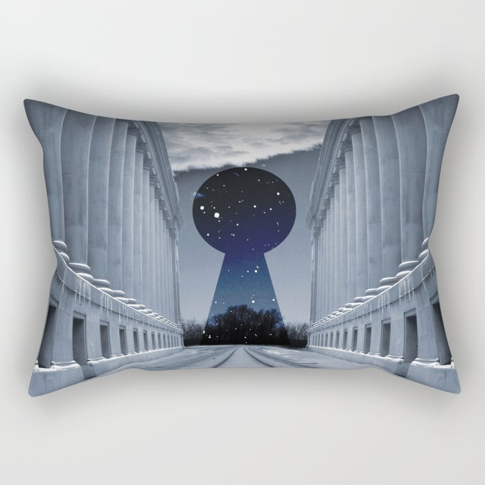 Keyhole to Infinity Rectangular Pillow