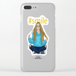 #smile Clear iPhone Case