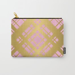 Pink and Gold Plaid Graphic Design Pattern Carry-All Pouch