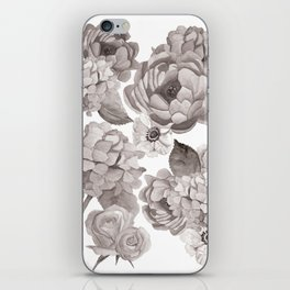 Black and White Flowers iPhone Skin