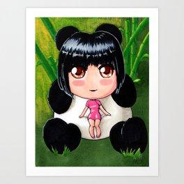 Panda Girl Art Print