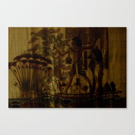 papyrus egyptian painting Canvas Print