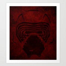 KYLO REN HELMET Art Print