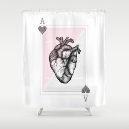 Ace of Hearts Shower Curtain
