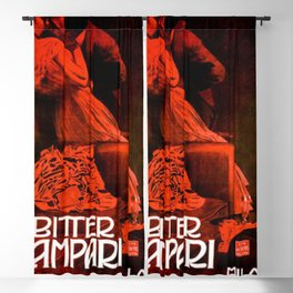 1901 Campari 'The Kiss' Advertisement Poster by Marcello Dudovich Blackout Curtain