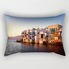 Mykonos Glow Sunset Rectangular Pillow