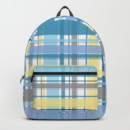 Blue and Yellow Tartan Backpack