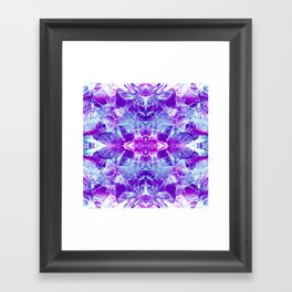 mosaic of violet crystals I Framed Art Print