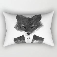 minima - dapper fox | noir Rectangular Pillow