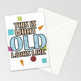 This Is What Old Looks Like Retirement Retired Oldies Grandparents Stationery Cards